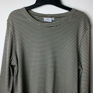 🌞 Hot Cotton Shiny Stripe Crew Tee